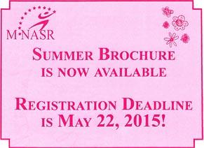 Summer 2015 Registration
